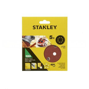 Шлифкруг 125 мм, 320G, для ЭШМ, 5 шт, Stanley, STA32262-XJ STA32262-XJ Stanley