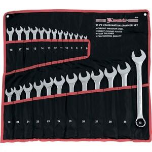 Набор ключей комбинированных, 6-32 мм, 25 шт, CrV, полированный хром Matrix