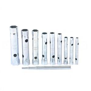 Набор ключей-трубок торцевых, 6 х 22 мм, вороток, оцинкованные, 10 шт Sparta