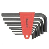 Набор ключей имбусовых HEX, 2,0-12 мм, CrV, 9 шт, удлиненные Matrix