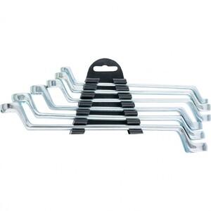 Набор ключей накидных, 6-17 мм, 6 шт, хромированные Sparta