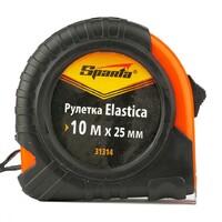 Рулетка Elastica, 10 м х 25 мм, обрезиненный корпус Sparta