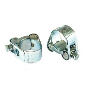 Хомуты металлические, силовые 23-25 мм, ширина 18 мм, шарнирный, W1, 2 шт Сибртех