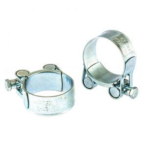 Хомуты металлические, силовые 40-43 мм, ширина 20 мм, шарнирный, W1, 2 шт 47525 СИБРТЕХ