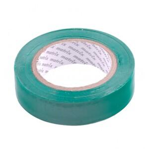 Изолента ПВХ, 15 мм х 10 м, зеленая, 150 мкм Matrix