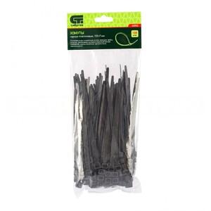 Хомуты, 150 х 7 мм, пластиковые, черные, 100 шт Сибртех