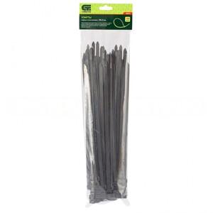 Хомуты, 300 х 8 мм, пластиковые, черные, 100 шт Сибртех