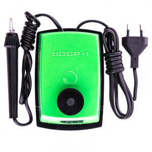"""Электроприбор для выжигания по дереву """"Узор 1"""" с подставкой, запасная игла, 5 проекций Сибртех"""