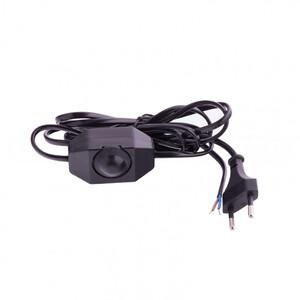 Шнур электрический соединительный, для бра с диммером, 1,5 м, 120 Вт, черный, тип V-2 Россия Сибртех