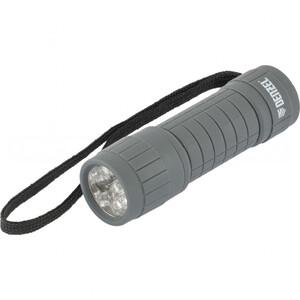 Фонарь светодиодный, серый корпус с мягким покрытием, 9 Led, 3хААА 92612 DENZEL