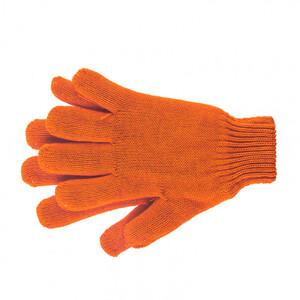Перчатки трикотажные, акрил, двойные, оранжевый, двойная манжета Россия Сибртех