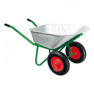 Тачка садово-строительная, 2-х колесная, усиленная, грузоподъемность 320 кг, объем 100 л Kronwerk