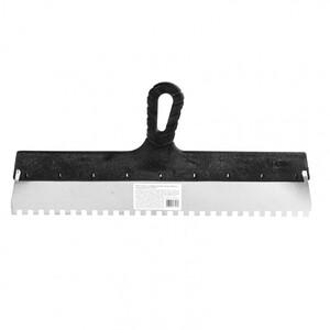 Шпатель из нержавеющей стали, 450 мм, зуб 8 х 8 мм, пластмассовая ручка 85146 SPARTA
