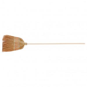 Метла натуральная, деревянный черенок Россия 93337 No name Рос