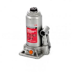 Домкрат гидравлический бутылочный, 5 т, h подъема 197-382 мм, в пластиковом кейсе 50776 MATRIX