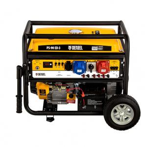Генератор бензиновый PS 90 ED-3, 9.0 кВт, переключение режима 230 В/400 В, 25 л, электростартер 946944 DENZEL