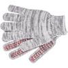 Перчатки трикотажные усиленные, гелевое ПВХ-покрытие, 7 класс, бело-серый меланж Россия Сибртех