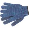 Перчатки трикотажные усиленные, гелевое ПВХ-покрытие, 7 класс, синие Россия Сибртех