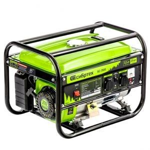 Генератор бензиновый БС-3500, 3.2 кВт, 230В, четырехтактный, 15 л, ручной стартер 94544 СИБРТЕХ