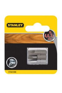 Набор бит SL 4, 6, 7.2 x 25мм. Stanley, STA61006-XJ STA61006-XJ Stanley