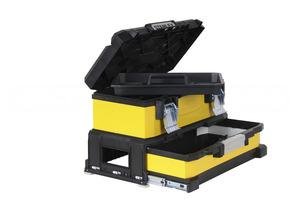 """Ящик для инструмента двухсекционный металлопластмассовый желтый 20"""" Stanley, 1-95-829 1-95-829 Stanley"""