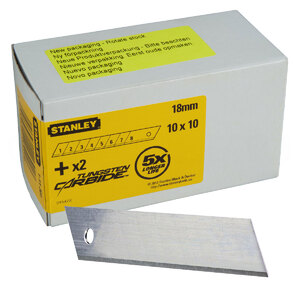 Лезвие сегментное 18 мм Stanley, 1-11-301, 100 шт. 1-11-301. Stanley