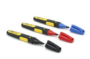 """Набор маркеров """"FatMax"""" Stanley, 0-47-315, черный, красный, синий, плоский наконечник 0-47-315 Stanley"""