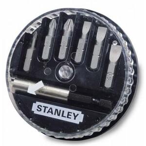 """Набор из 6-ти вставок с шестигранным хвостовиком 1/4"""" и магнитного держателя Stanley, 1-68-738 1-68-738 Stanley"""