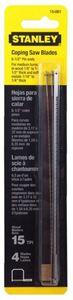 Пилки для лобзика 15-106 Stanley 170 мм, 0-15-061, 4 шт. 0-15-061 Stanley