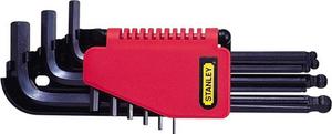 Набор ключей шестигранных 1,5-10мм Stanley, 0-69-256, с шаровидным наконечником 0-69-256 Stanley