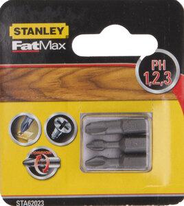 Набор бит PH 1,2,3 x 25мм STA62023 Stanley STA62023-XJ Stanley